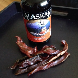 """A beer and some """"Alaskan crack"""""""