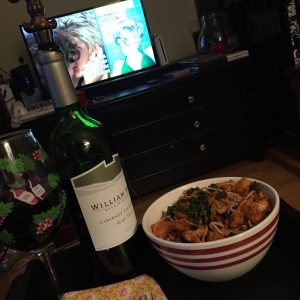 Dinner and a movie, and wine